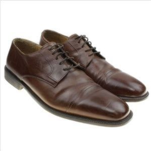Johnston Murphy Derby Cap Toe Leather Oxfords